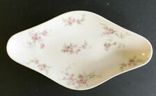 "CH Field Haviland Limoges GDA France 9-1/2"" Condiment/Relish Dish Pink Flowers"