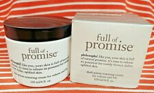 Philosophy FULL OF PROMISE Dual Action Restoring Cream Volume Lift AntiAging 4oz
