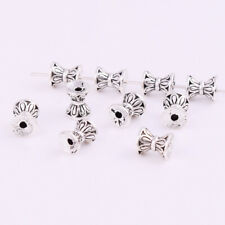 3 Color Silver Gold Spacer Loose Bead Hourglass Charm Jewelry Making Finding 6mm