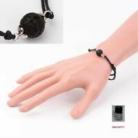 Adjustable Black Lava Bead Essential Oil Diffuser Minimalist Bracelet+Free gift