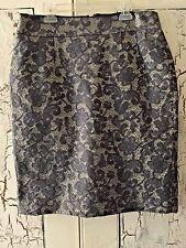 Banana Republic Lace Brocade Pencil Skirt Grey/Cream NWOT, Size 8 MSRP $159