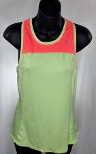 Nike Dri Fit Running Tank Top S Women's Yellow & Pink Racer back Athletic
