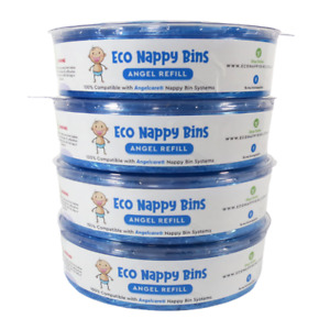 4x Eco Angel Refills for ANGELCARE Nappy Bins - 100% Compatible