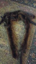 Vintage 4 Pelt Mink Real Fur Stole Scarf Shaw Wrap 70 inches long by Gartenhaus