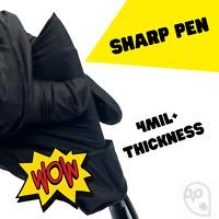 THICK BLACK Nitrile Gloves (S M L XL) Latex Powder free 50 / 100 / 1000 / Box