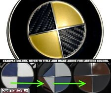 Carbon Fiber Black & Gold Vinyl Sticker Overlay COMPLETE SET FITS BMW Emblems