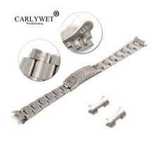 20mm Silver Hollow Curved End Oyster Watch Band for Bracelet Vintage Submariner