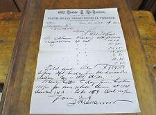 Letterhead Heekie & McKerrow Detroit Commission Merchants Grains Produce 1883