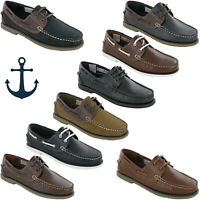 DEK Boat Moccasin Deck Leather Shoes Mens Casual Loafers Lightweight UK 6-12
