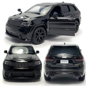 1:36 Jeep Grand Cherokee Trackhawk SUV Model Car Diecast Toy Pull Back Black Boy