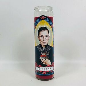 RUTH BADER GINSBERG RBG OUR LADY OF DISSENT 100HR. MEMORIAL PRAYER CANDLE RED