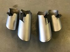15 16 LAMBORGHINI HURACAN LP610 OEM SILVER MATTE EXHAUST TIPS LEFT RIGHT