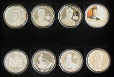 S.A.R. Príncipe Guillermo 21st Cumpleaños 8-Moneda plata prueba de colección 2003 En Caja