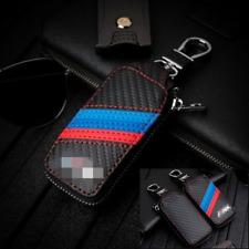 For BMW Car Key Holder Black Keychain Keyring Fob Bag Leather Key Case Cover