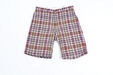 Vintage 90s Polo Ralph Lauren Mens Size 34 Multi-Color Plaid Cotton Chino Shorts