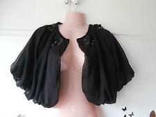 dorothy perkins party bolero jacket top size 14 NEW black beaded evening wear