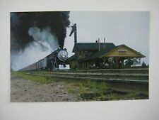 Southern Pacific GS Class 4-8-4 #4439 Goshen Junction CA Train Station Postcard
