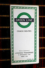 More details for london transport green line coach map sep 1954 854/1834d/150,000