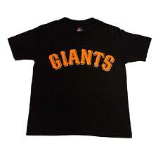 Majestic San Francisco Giants MLB Black T-Shirt Boys Small S