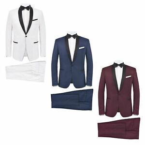 vidaXL 2x Smoking de Soirée Homme 46-56 Multicolore Costume Tuxedo Costard