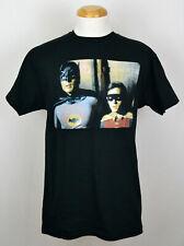 Retro Batman T-Shirt DC Comics 1960s Series Adam West Graphic Tee Black NWT