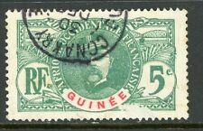 Guinea 1906 French Colony Guinee 5¢ Faidherbe Scott #36 VFU R359