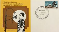 1973 Radio Broadcasting announcer Fdc