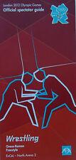 London 2012 Olimpiadi Memorabilia-OTTIME CONDIZIONI WRESTLING spettatore Guide