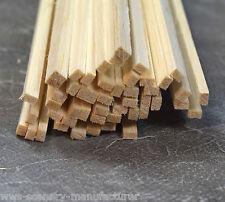 """A11 BALSA legno Striscia 1/8 x 3/16 - 3,2 mm x 5mm Lunghezza 12 """"Confezione da 45"""