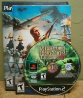 SONY PLAYSTATION 2 GAMES~MEDAL OF HONOR:RISING SUN PRE-OWNED+COMPLETE~VERYGOOD
