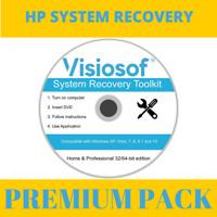 HP System Recovery Boot Repair Restore CD DVD Disc Windows 10 8 8.1 7 Vista XP