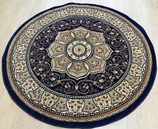 Blue  Traditional Persian Medallion Oriental ROUND Rug Size 150x150cm Now 30% OF