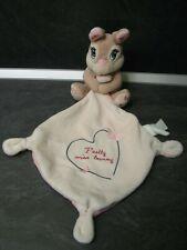 doudou panpan lapin mouchoir beige rose papillon coeur pretty miss bunny disney