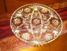 Large Heavy and Thick American Brilliant Cut Glass Crystal Plate/ Tray