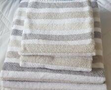 Towels 2 Bath & 2 Hand-Cream/Grey/Beige Stripe by Debenhams Used Nice Condition