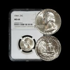 1964 Washington Quarter (Silver) - NGC MS 64 (CH+ UNC) - Toned
