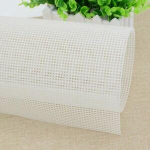 Plastic Mesh Cloth Bag Rug Thread Hook Craft Bases Cross Stitch Handcraft Latch