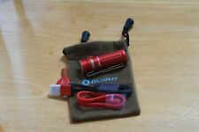 OLIGHT Baton 3 in red with all accessories - complete.  USA seller