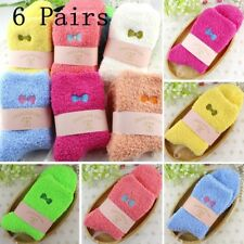 6 Pairs Women Ladies Lounge SLIPPER Bed Socks Fleece Fluffy Warm Soft Grip Bed