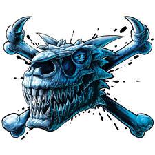 """""""Dragon"""" Temporary Tattoo, Blue Dragon Skull & Crossbones, USA Made"""