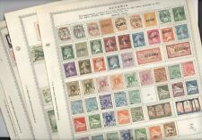 ALGERIA,  Excellent assortment of Stamps hinged on Minkus pages