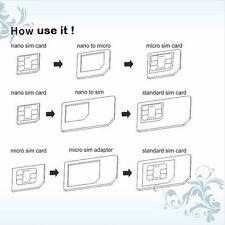 Adaptateurs 3 en 1 nano sim, micro sim, standard sim pour Iphone et autres gsm