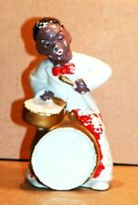 RARE ANTIQUE FIGURINE DRUM PLAYER - WITH RED BOW TIE & PANTS