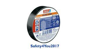 19mm x 20m Tesa Electrical PVC Insulating Tape Cable Black BN Flame Retardant