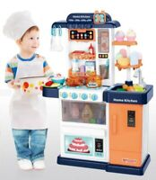Kitchen Playset Pretend Baker Kids Toy Cooking Playset Girls Food Christmas Gift