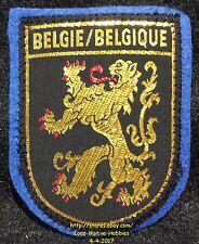 LMH PATCH Woven Badge  BELGIE Belgium BELGIQUE  Lion COAT ARMS  Gold Black Blue