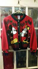 VINTAGE Mickey & Minnie Mouse Walt Disney Knit Cardigan Sweater Kids Medium