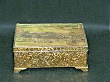 VINTAGE BRASS MUSIC BOX