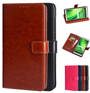 Dooqi Luxury PU Leather Wallet Card Flip Stand Cover Case For Motorola Moto E5