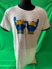 "John Cena WWE Authentic ""Word Life"" Ringer Retro T-Shirt Men's LARGE"